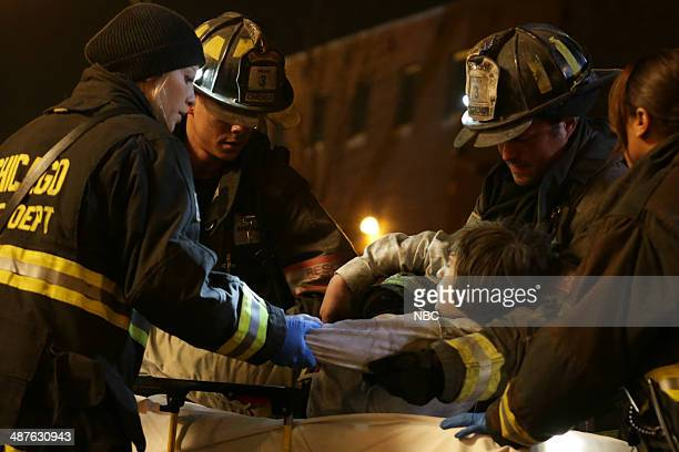 FIRE Real Never Waits Episode 222 Pictured Lauren German as Leslie Shay Charlie Barnett as Peter Mills Taylor Kinney as Kelly Severide