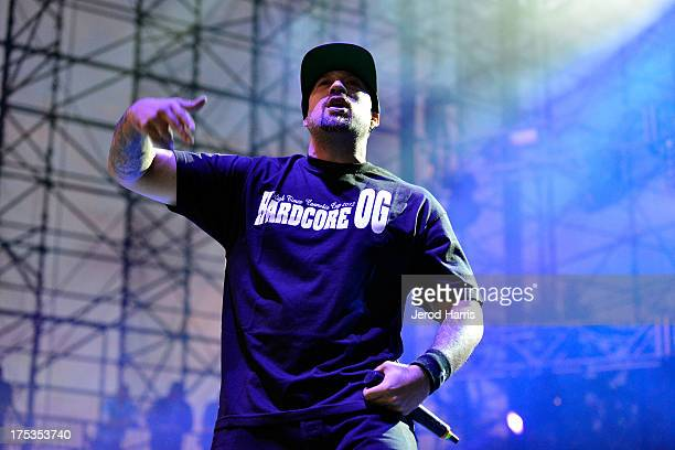 Real of Cypress Hill performs on the 2013 Unity Tour at Verizon Wireless Amphitheater on August 2 2013 in Irvine California