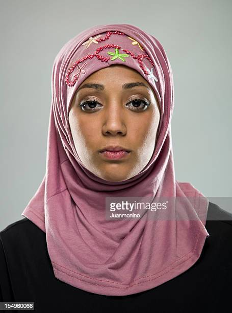 Real People: Serious Muslim Young Woman