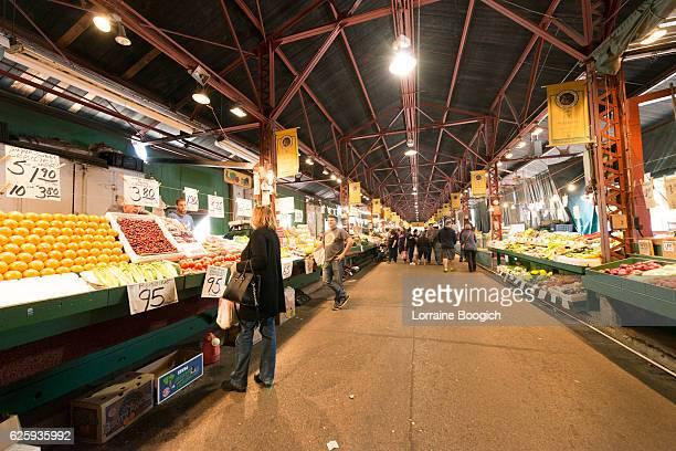 Real People Shopping at St Louis Soulard Farmers Market Missouri