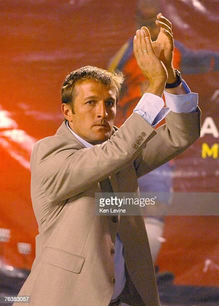 Real Salt Lake head coach Jason Kreis applauds the crowd folowing his first victory as a coach at Rice-Eccles Stadium in Salt Lake City, Utah,...