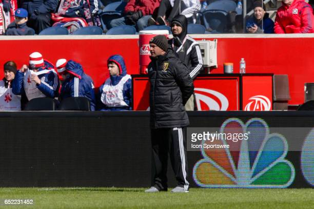 Real Salt Lake head coach Jeff Cassar during an MLS soccer match between Real Salt Lake and the Chicago Fire on March 11 at Toyota Park in Chicago IL