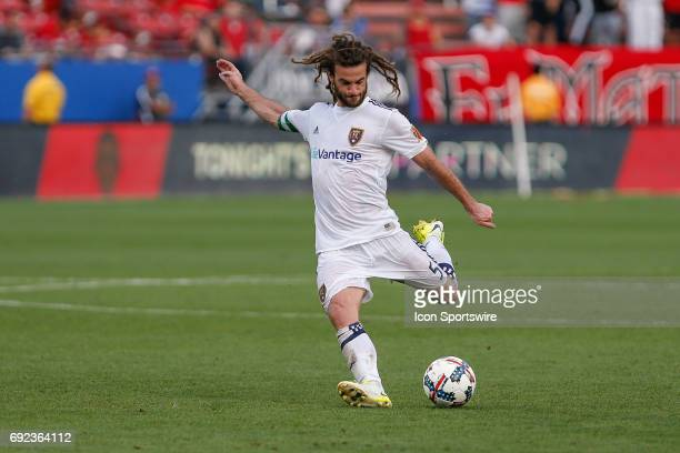 Real Salt Lake midfielder Kyle Beckerman during the MLS match between Real Salt Lake and FC Dallas on June 3 2017 at Toyota Stadium in Frisco TX FC...