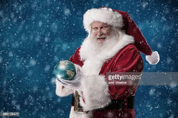 Real Santa Holding World Globe