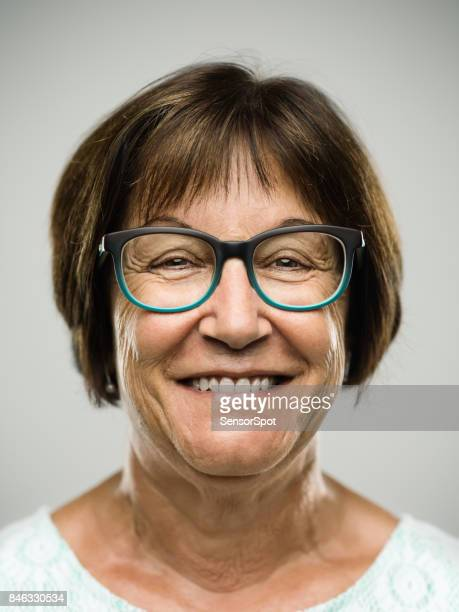 Real senior woman laughing portrait