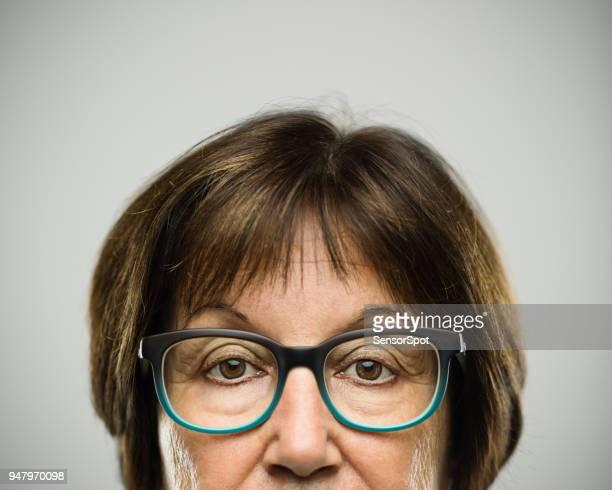 Real serious senior woman portrait
