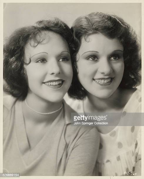 Real sisters become screen sisters as Lillian and Ann Roth take the parts of sisters in Sea Legs the Paramount Pictures comedy starring Jack Oakie...