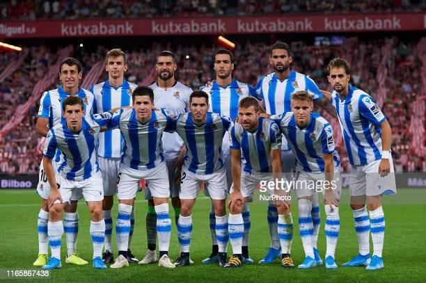 Real Sociedad team line up Mikel OyarzabalMikel Merino Miguel Angel Moya Mikel MerinoWillian JoseAdnan Januzaj Aihen Munoz Igor Zubeldia Joseba...