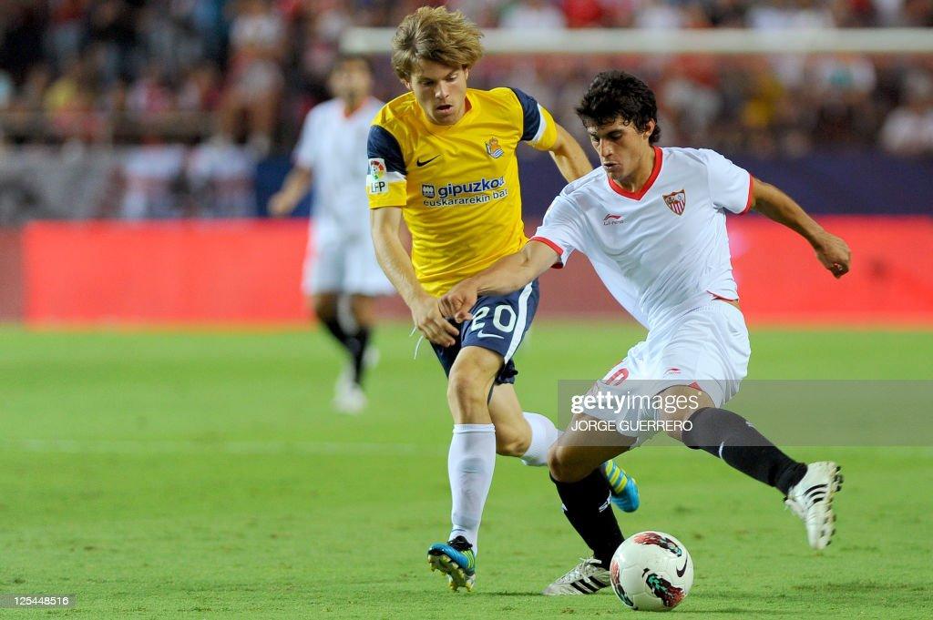 Real Sociedad's midfielder Asier Illarra : News Photo