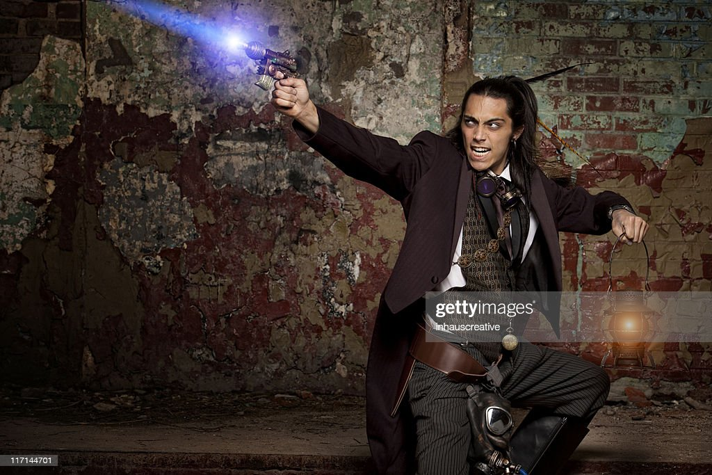 Real Steampunk Warrior : Stock Photo