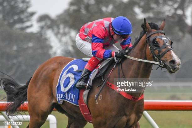 Real Thinker ridden by Dean Yendall wins the Coleraine Cup Sunday 22nd Sept BM58 Handicap at Coleraine Racecourse on August 18 2019 in Coleraine...