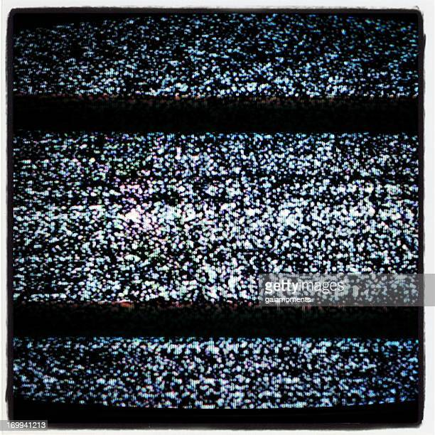real tv static - white noise stock photos and pictures