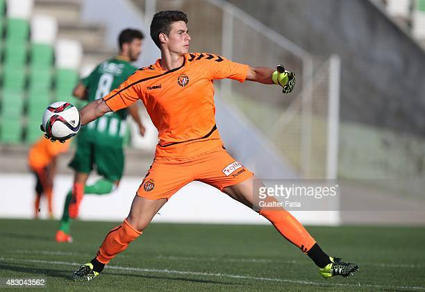 Real Valladolid FC's goalkeeper Kepa in action during the PreSeason Friendly match Rio Ave FC v Real Valladolid FC at Estdio dos Arcos on August 5...