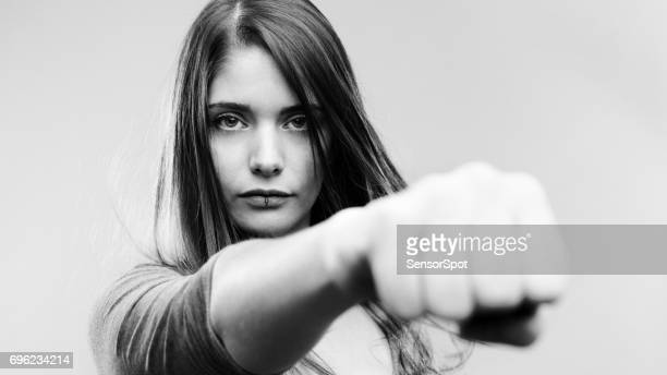 Real woman fighting