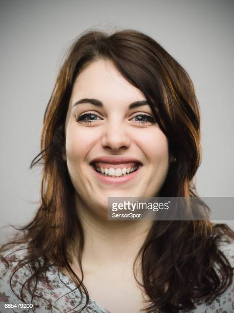 real woman looking happy - human gums stock photos and pictures