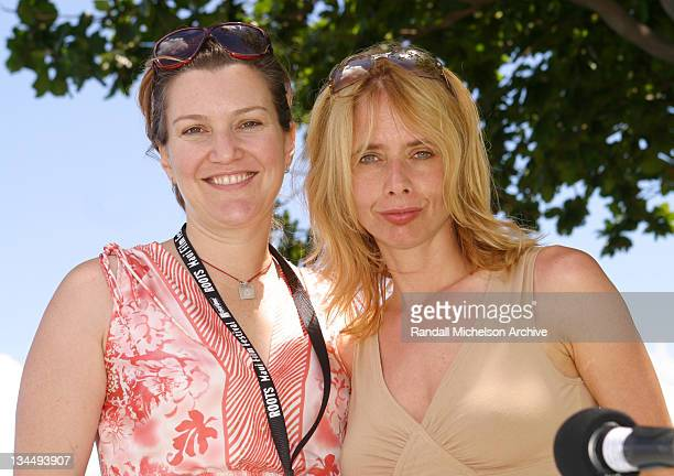 Real Women Make Movies panelists Krista Smith of Vanity Fair and Rosanna Arquette