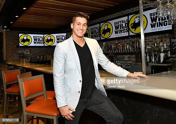 MTV Real World Seattle Bad Blood cast member Peter Romeo visits Buffalo Wild Wings on December 12 2016 in New York City
