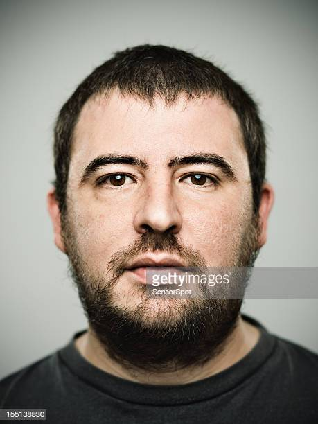real young man - fat man beard stock photos and pictures
