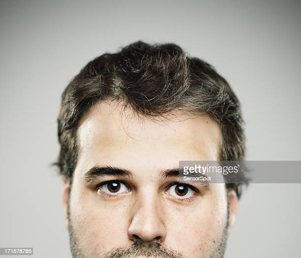 real young man - big eyes stock photos and pictures