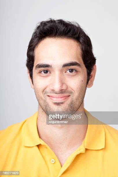 Real young man smiling