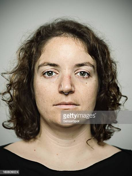 real young woman - police mugshot stock pictures, royalty-free photos & images