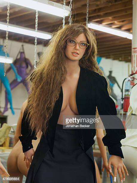RealDoll is photographed for Vanity Fair Magazine on February 19 2015 in San Diego California