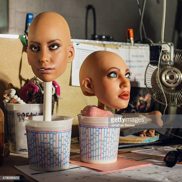 RealDolls heads are photographed for Vanity Fair Magazine on February 19 2015 in San Diego California PUBLISHED IMAGE