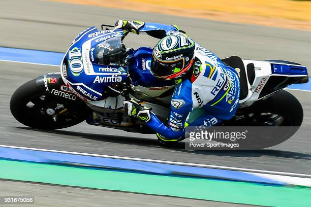 Reale Avintia Racing's rider Xavier Simeon of Belgium rides during the MotoGP Official Test at Chang International Circuit on 17 February 2018 in...
