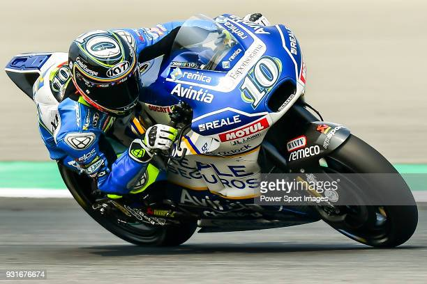 Reale Avintia Racing's rider Xavier Simeon of Belgium rides during the MotoGP Official Test at Chang International Circuit on 18 February 2018 in...