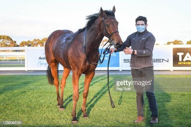 Realeza after winning the JT Dixon BM64 Handicap, at Geelong Racecourse on September 05, 2021 in Geelong, Australia.