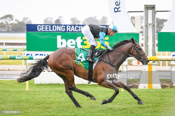 Realeza ridden by Dean Holland wins the Prestige Jayco Class 1 Handicap at Geelong Racecourse on December 22, 2020 in Geelong, Australia.