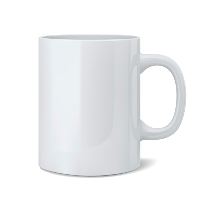 Realistic classic white cup 506131299