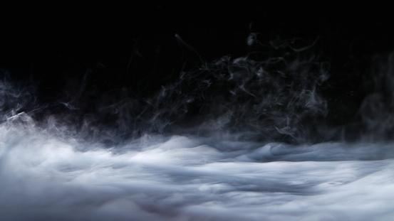 Realistic Dry Ice Smoke Clouds Fog Overlay 943156548