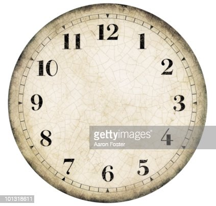 Realistic Old French Clock Face High Res Stock Photo