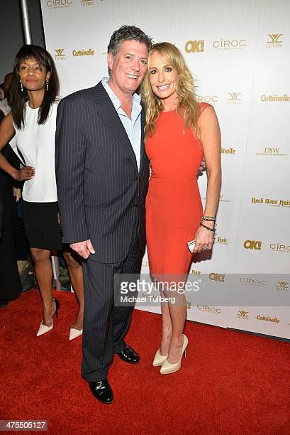 Reality actress Taylor Armstrong and fiance John Bluher attends OK Magazine's PreOscar Party at Greystone Manor Supperclub on February 27 2014 in...