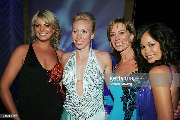Reality contestent Fiona Falkiner Athelete Tamsyn Lewis Actress Kerry Armstrong and Dancer Arianne Caoili attend the Dancing With The Stars after...