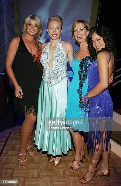 Reality contestents Fiona Falkiner Athelete Tamsyn Lewis Actress Kerry Armstrong and Dancer Arianne Caoili attend the Dancing With The Stars after...
