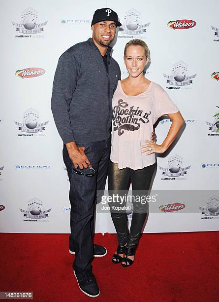Reality personalities Hank Baskett and wife Kendra Wilkinson arrive at the Matt Leinart Foundation Sixth Annual Celebrity Bowl at Lucky Strike...