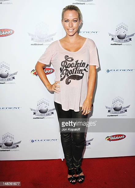 Reality personality Kendra Wilkinson arrives at the Matt Leinart Foundation Sixth Annual Celebrity Bowl at Lucky Strike Bowling Alley on July 12 2012...