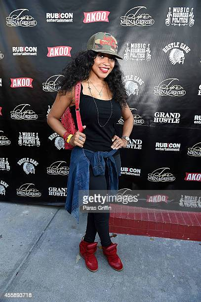 Reality personality Monyetta Shaw attends Festa De Rei Feast of Kings at Little Italia on September 21 2014 in Atlanta Georgia