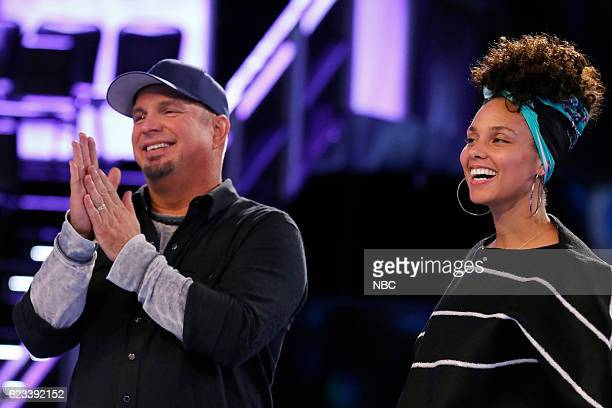 THE VOICE 1114 Reality Pictured Garth Brooks Alicia Keys