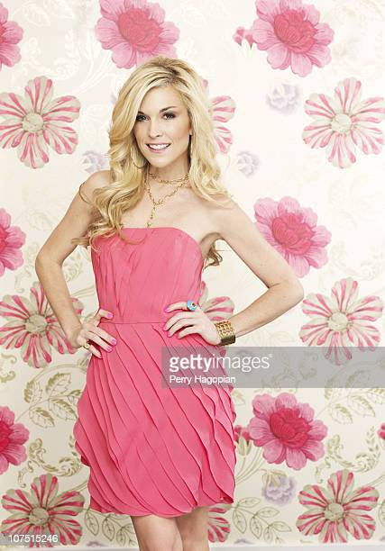 Reality show personality/heiress Tinsley Mortimer poses at a portrait session for Us Weekly on January 01 2010 in New York City