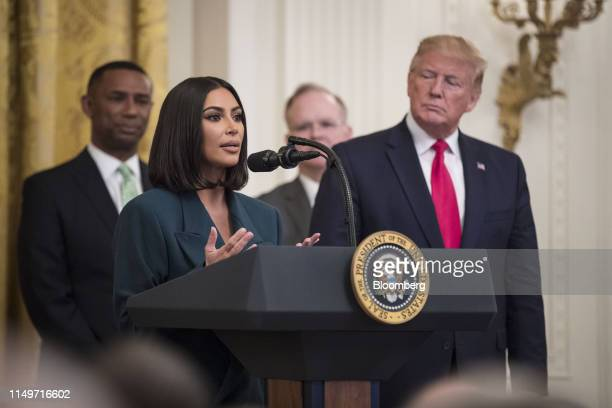 Reality star and activist Kim Kardashian West speaks about a second chance hiring and re-entry initiative alongside U.S. President Donald Trump,...