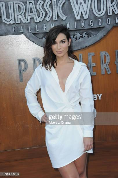 Reality star Ashley Iaconetti arrives for the Premiere Of Universal Pictures And Amblin Entertainment's Jurassic World Fallen Kingdom held at Walt...