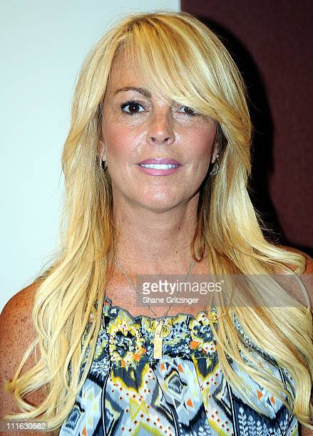 Reality Star Dina Lohan arrives for the Jonas Brothers performance at The Ross School on August 9 2008 in East Hampton New York