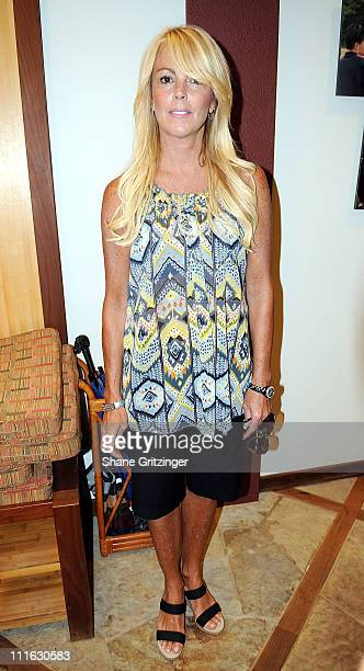 Reality Star Dina Lohan arrives for the Jonas Brothers performance at The Ross School on August 9, 2008 in East Hampton, New York.