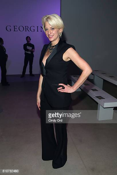 Reality star Dorinda Medley attends the Georgine Fall 2016 fashion show during New York Fashion Week: The Shows at The Gallery, Skylight at Clarkson...