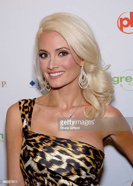 Reality Star Holly Madison arrives at 2009 Miss USA Pageant Red Carpet Arrivals at Planet Hollywood Resort Casino on April 19 2009 in Las Vegas Nevada