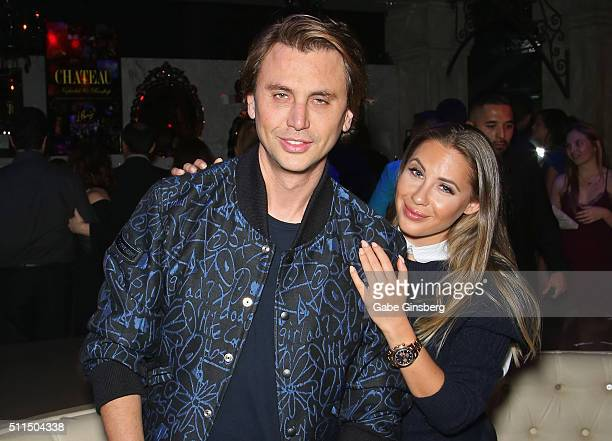 Reality star Jonathan Cheban and Anat Popovsky attend the Chateau Nightclub Rooftop at the Paris Las Vegas to celebrate Cheban's birthday on February...