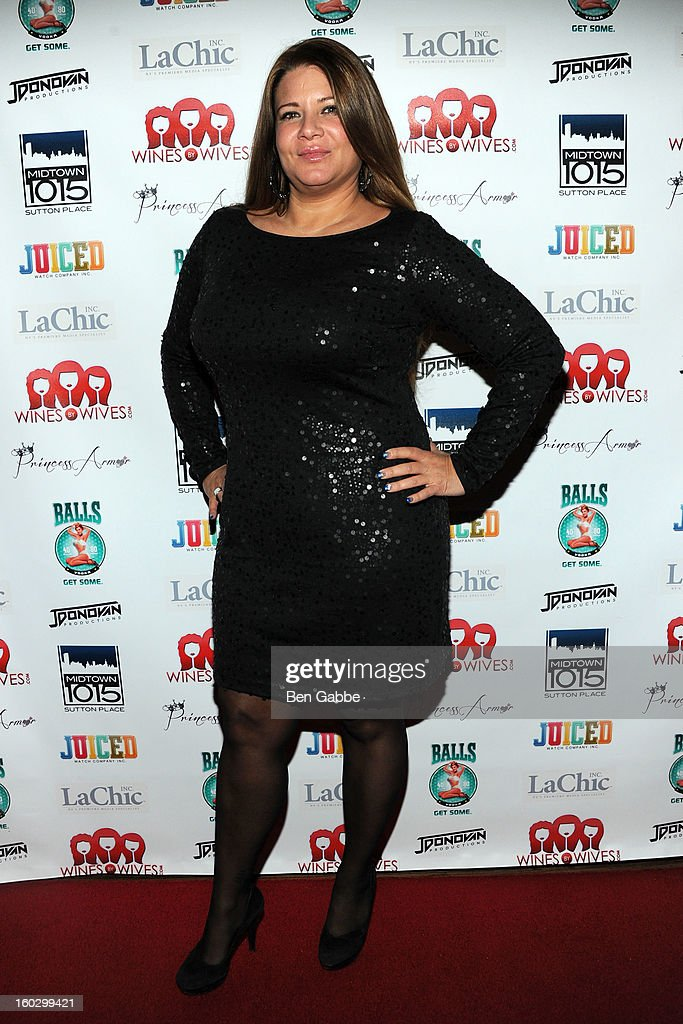 Reality Star Karen Gravano attends 'Jerseylicious' Season 5 Premiere Party at Midtown Sutton on January 28, 2013 in New York City.